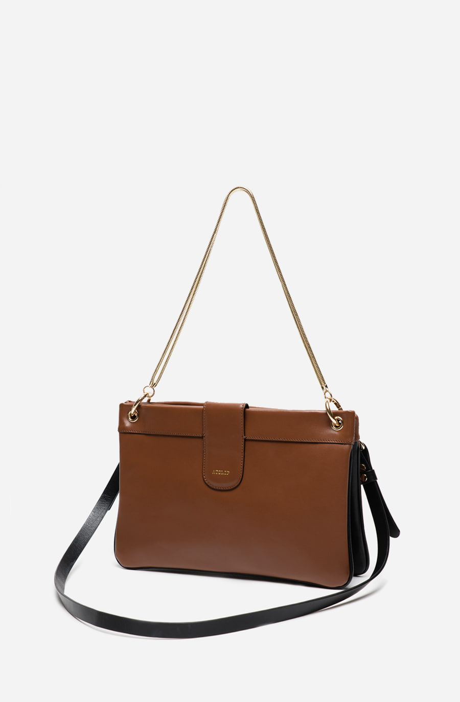 DOUBLE BAG (tan brown)