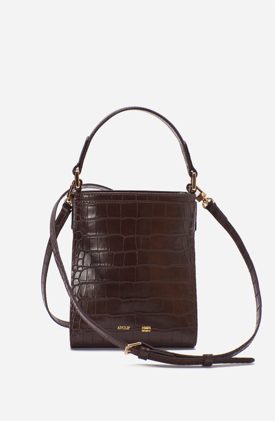 MINI LINK BAG (croco deep brown)
