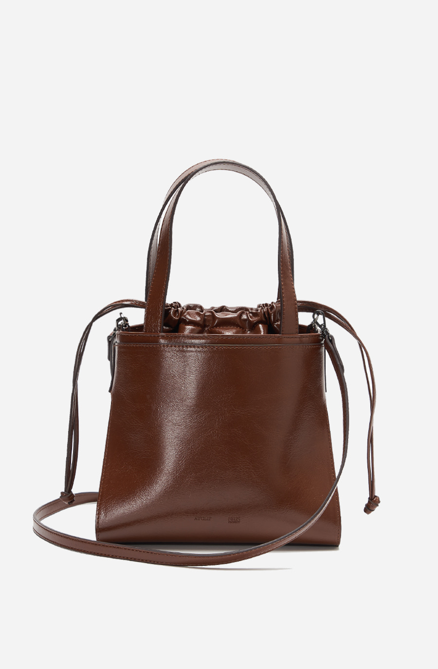 LINK BUCKET BAG (brown)